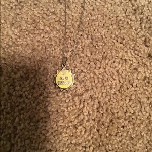 You are my sunshine extendable necklace